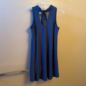 Dark Blue Tie Dress